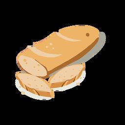 Pan y panes isométrica.