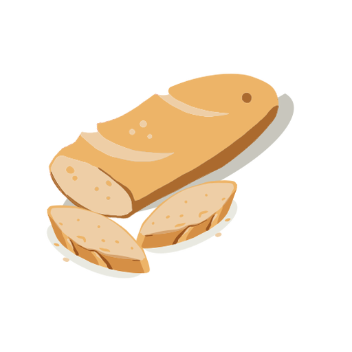 Bread and loaves isometric Transparent PNG