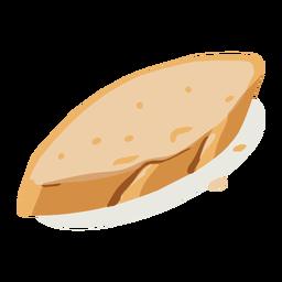 Isométrica de pan de molde