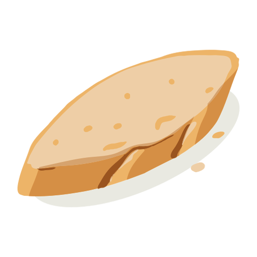 Bread loaf isometric