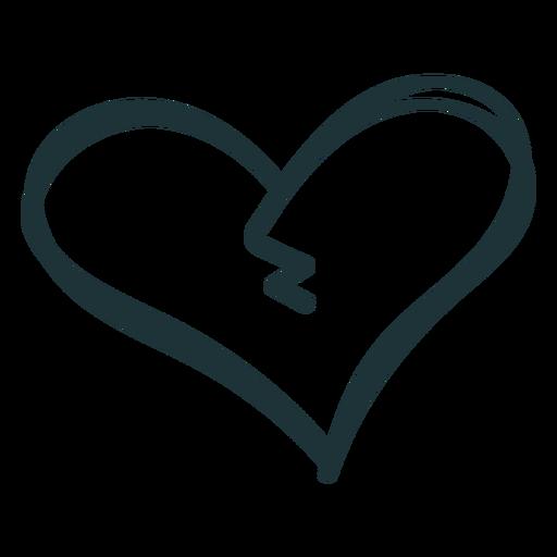 Corazón roto golpe de crack Transparent PNG