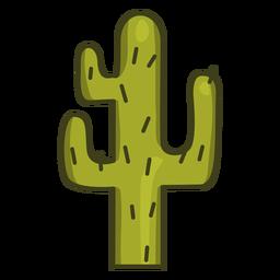 Trazo de colorido icono de planta de cactus