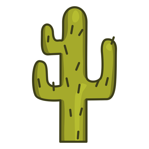 Trazo de icono colorido de planta de cactus Transparent PNG