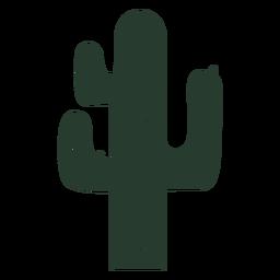 Silueta de planta de cactus