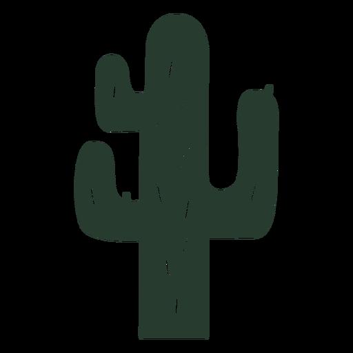 Cactus plant silhouette Transparent PNG