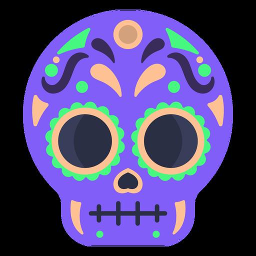 Calavera colorful skull flat Transparent PNG