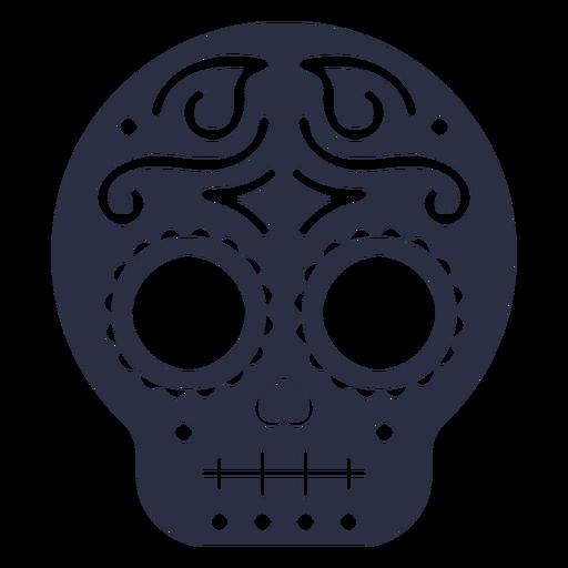 Calavera decorated skull