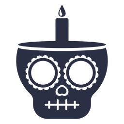 Calavera skull candle
