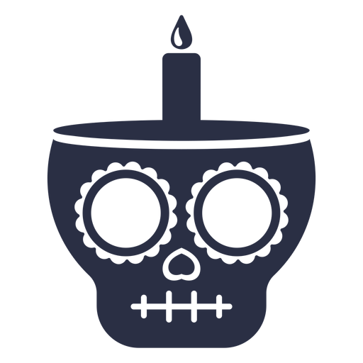 Calavera skull candle Transparent PNG