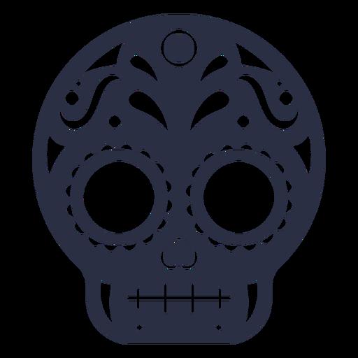 Calavera skull decorated Transparent PNG