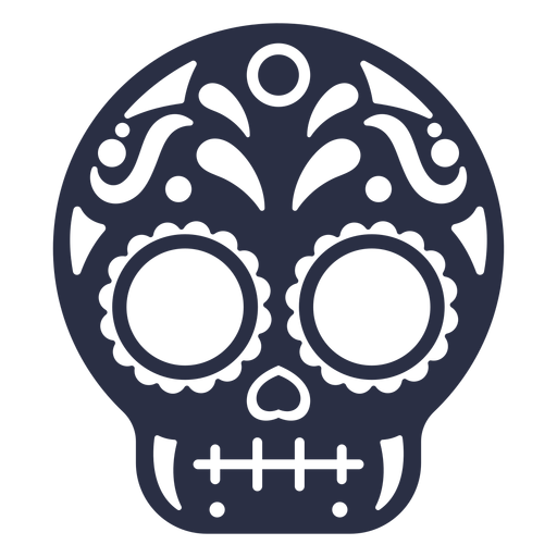 Calavera skull decorated