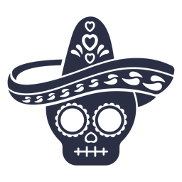 Calavera calavera sombrero