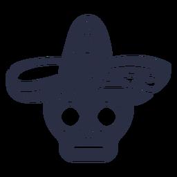 Calavera caveira sombrero