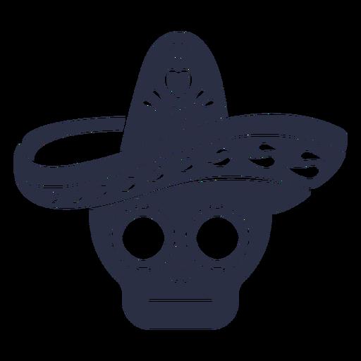 Calavera skull sombrero Transparent PNG