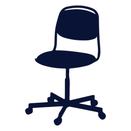 Chair office silhouette