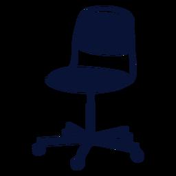 Stuhl Büro Silhouette