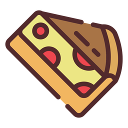 Cherry pie icon stroke