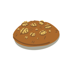 Chocolate cookie isometric