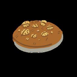 Galleta de chocolate isométrica