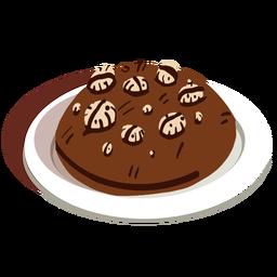Galleta de cereal de chocolate isométrica