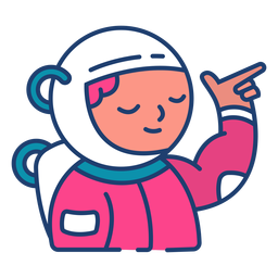 Colorful astronaut stroke
