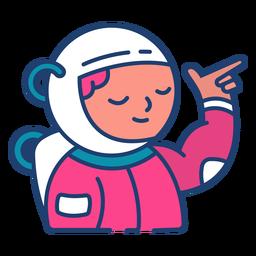 Golpe de astronauta colorido
