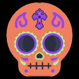 Crânio de calavera colorido liso