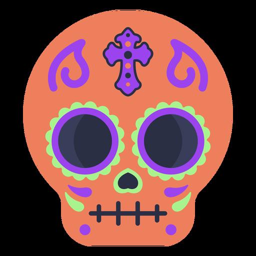 Colorful calavera skull flat