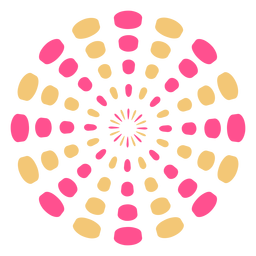 Trazo de chispas de masa de fuegos artificiales coloridos