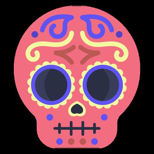 Colorful flat calavera skull