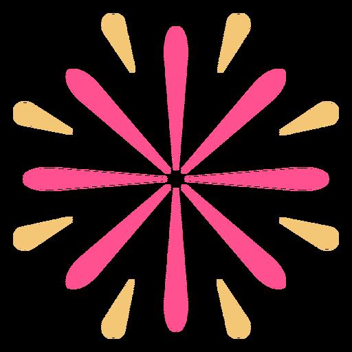 Trazo de fuegos artificiales de forma de flor colorida Transparent PNG