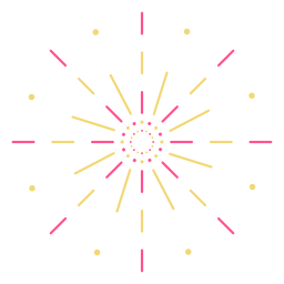 Colorful lines dots firework stroke