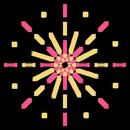 Trazo de fuegos artificiales de puntos de líneas coloridas