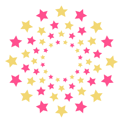 Colorful mass stars firework