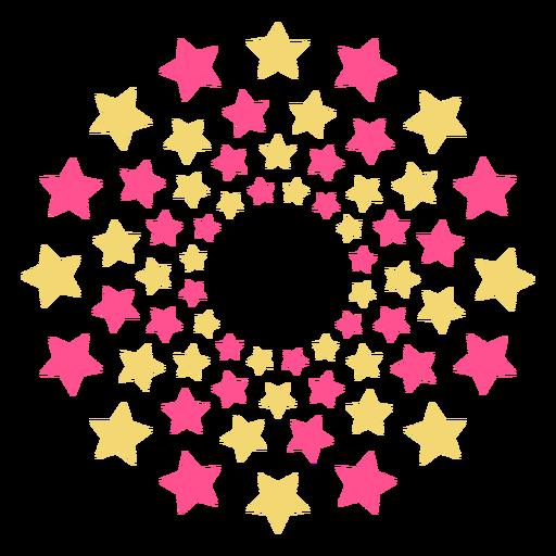 Fuegos artificiales de estrellas masivas coloridas