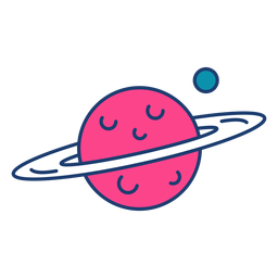 Colorido trazo del planeta Saturno