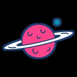 Curso de planeta colorido de Saturno