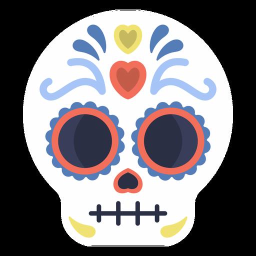 Colorful skull calavera flat