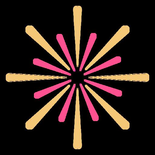 Trazo de fuegos artificiales de forma de estrella colorida Transparent PNG