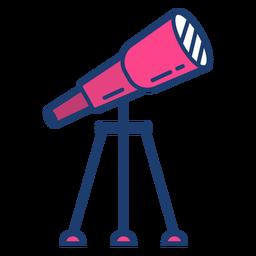 Golpe telescopio colorido