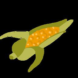 Corn cob leaves isometric