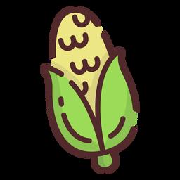 Trazo de icono de maíz