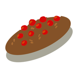 Cranberry cookies cocoa isometric