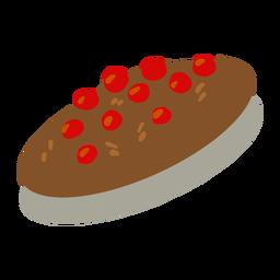 Galletas de arándano cacao isométrica