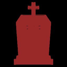 Silueta de lápida cruzada rip