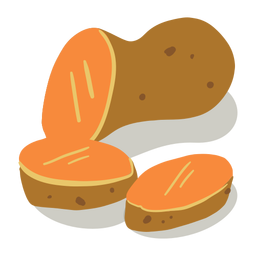 Kartoffel isometrisch schneiden
