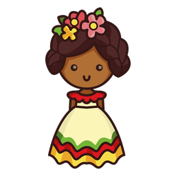 Carácter mexicano linda bailarina