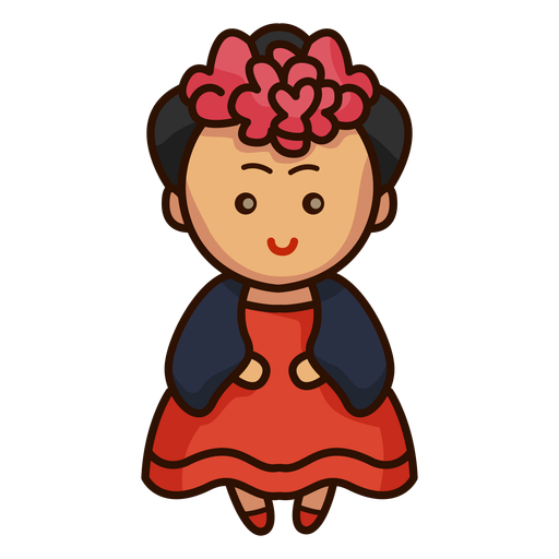 Cute mexican female dancer character Transparent PNG