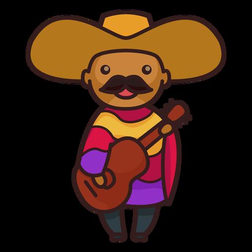 Lindo personaje de mariachi masculino mexicano Transparent PNG