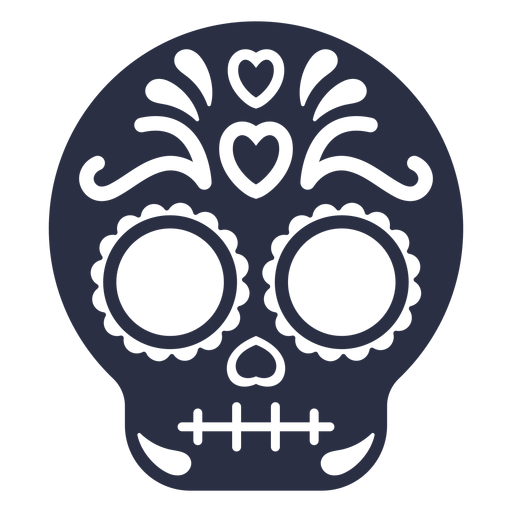 Decorated calavera skull Transparent PNG